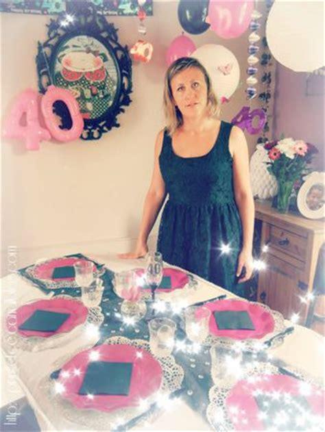 decoration de table anniversaire  ans femme