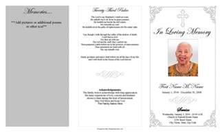 memorial booklet funeral program template grey ornate cross