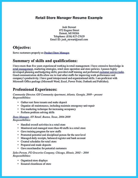How To Name A Resume by You Can Start Writing Assistant Store Manager Resume By