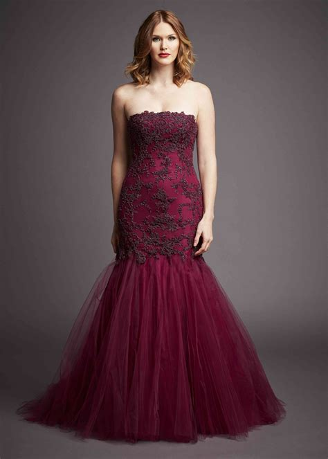wine colored evening gown barge black label evening gown wine