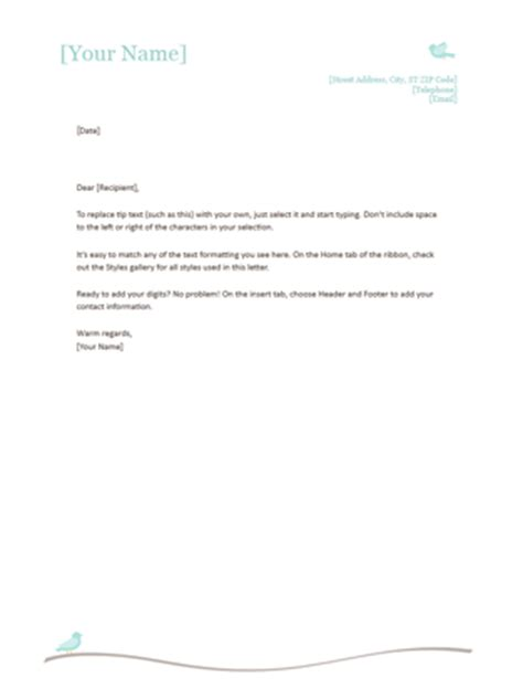 business letterhead template word letters office 20753 | lt00002014