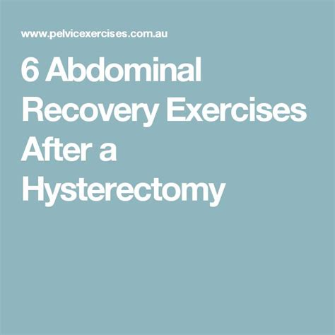 best 25 exercises after hysterectomy ideas on