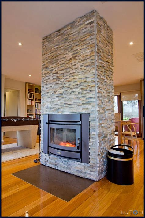 gorgeous double sided fireplace design ideas