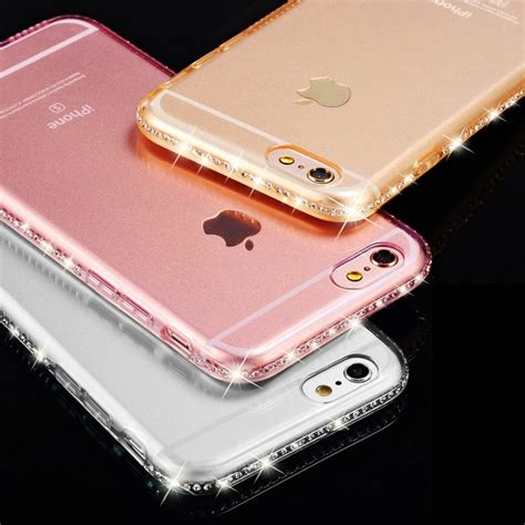Silikon Hp Iphone 6plus 5 5 clear for iphone 6s 6 plus 5 5s rhinestone