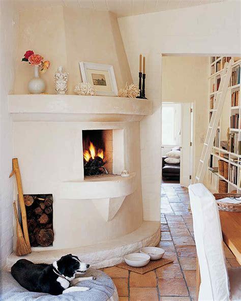 kitchen fireplace home tour santa barbara mediterranean style martha stewart