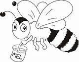 Bee Coloring Pages Preschool sketch template