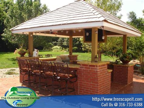 grill islands kitchen cabanas treescapeit