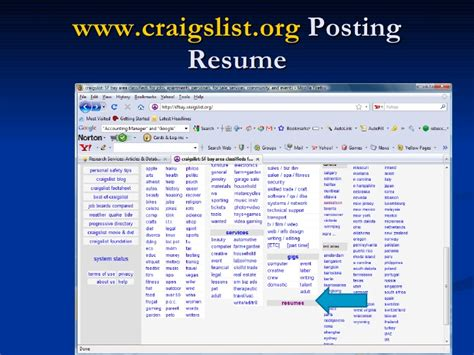 Craigslist Resume Search by Search Strategy Updated 1410