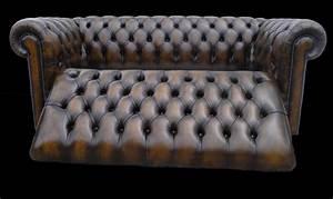 Canapé Convertible Chesterfield : canap chesterfield lit 3 places marron patin longfield 1880 ~ Teatrodelosmanantiales.com Idées de Décoration