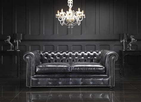 black chesterfield sofa living room with black leather chesterfield sectional sofa