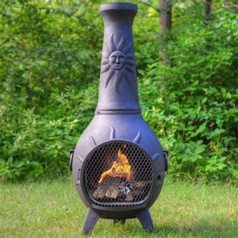 chiminea blue rooster the blue rooster sun stack style chiminea contemporary
