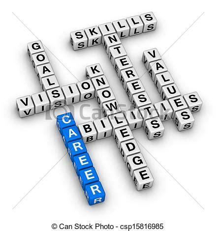 12862 career development clipart stock illustration of career crossword puzzle csp15816985