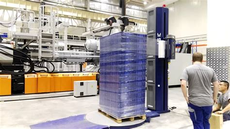 fully automatic pallet wrapping machine youtube