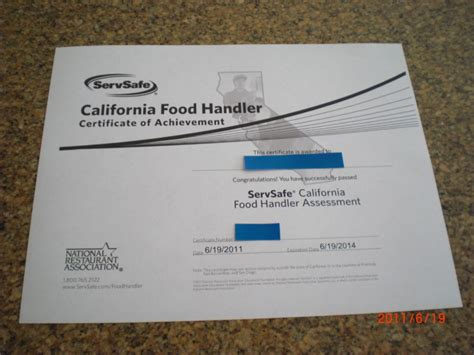 Check spelling or type a new query. California Food Handler Certificate - ちゃっぺの北カリフォルニア生活