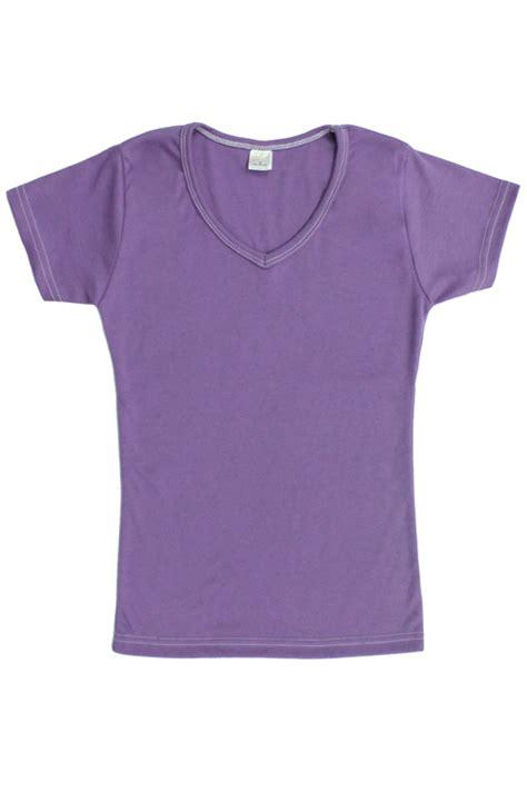 womens cotton  neck  shirt light lavender purple