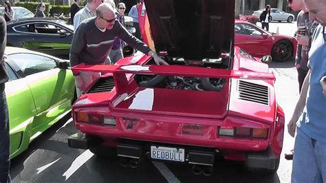 lamborghini countach exhaust reving youtube