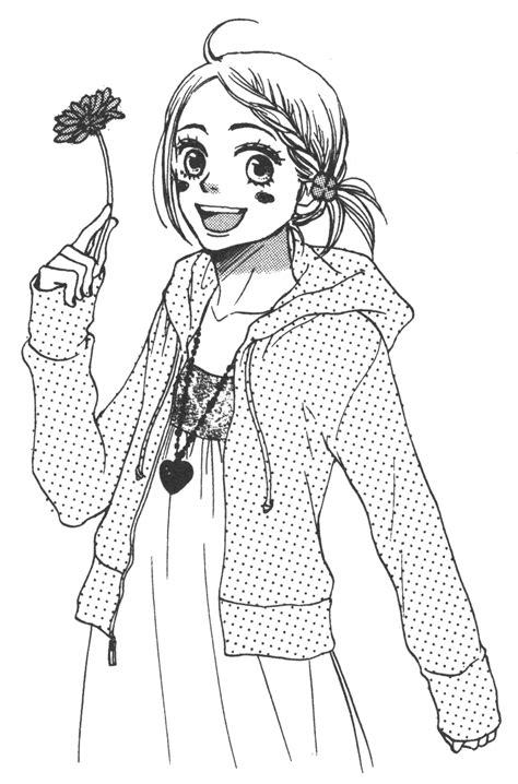 disegni a matita anime immagini da colorare di lovely complex topmanga