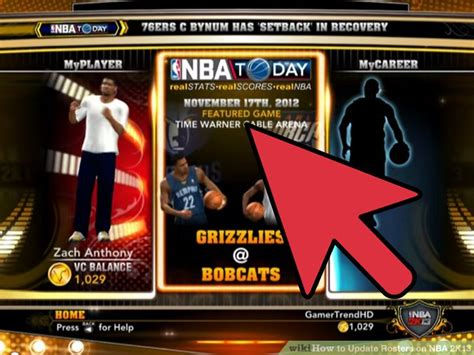 update rosters  nba   steps  pictures
