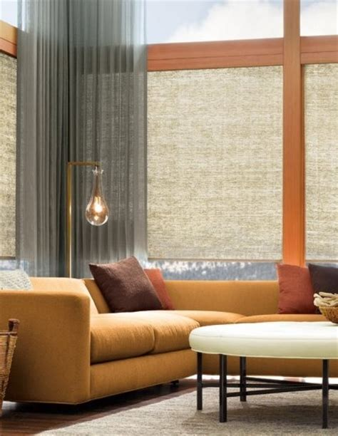examples  motorized natural fiber shades contemporary