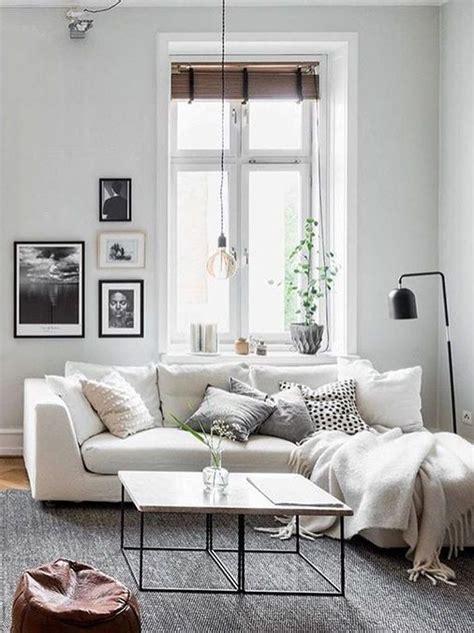 salon avec  canape blanc  idees deco dont sinspirer joli place
