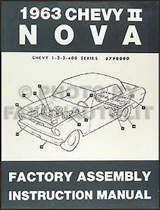 1963 Chevy Ii  U0026 Nova Bound Assembly Manual Reprint