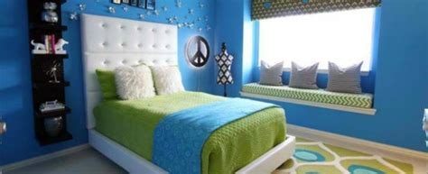 bedroom colors ideas blue  bright lime green