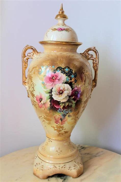 antique vases with flowers antique poppy flower