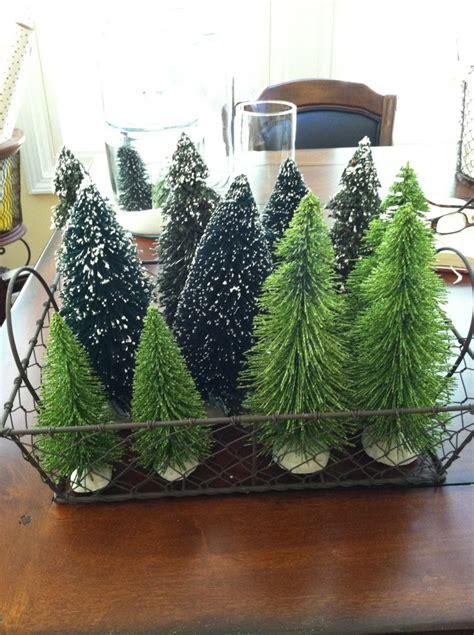 decorate  mini christmas figurines  trees