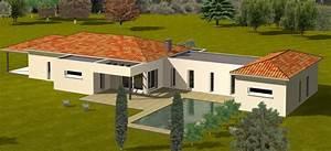 Idée Construction Maison : construction 86 fr plan maison contemporaine plain pied ~ Premium-room.com Idées de Décoration
