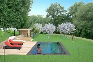 miroir jardin elegant jardin anglais munich pau cuisine With amazing photo de jardin avec piscine 12 la cuisine
