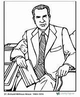 Coloring President Nixon Pages Richard Presidents Printable Biography Printables Usa Patriotic States United Getcolorings Presidential Printing Help sketch template