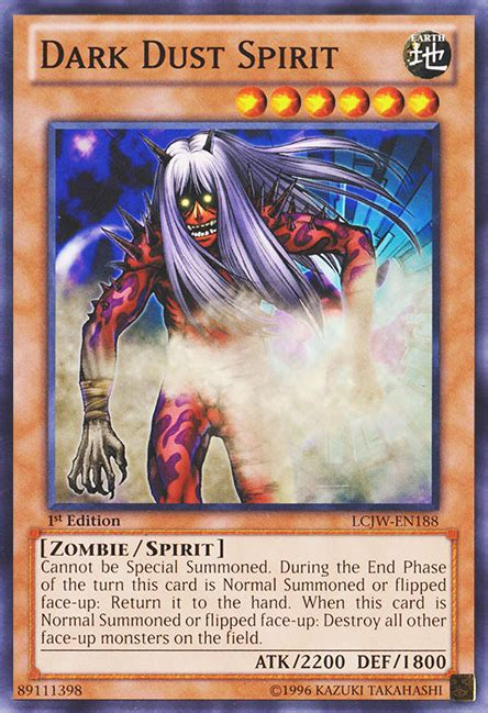 spirit dark dust yugioh monsters yu gi oh deck wikia level card game rules lcjw themselves qtoptens effect play toon