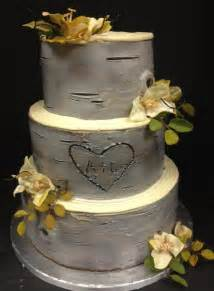rustic wedding cakes rustic wedding cake with carved initials