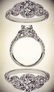 infinity halo diamond engagement ring gaudy bling With gaudy wedding rings