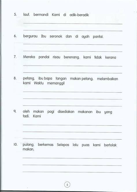 sle worksheet english year 2 kssr breadandhearth