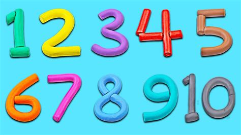 Play Doh Numbers  Number Song For Kids  1 To 10  Kids Learning Videos  Learn To Count