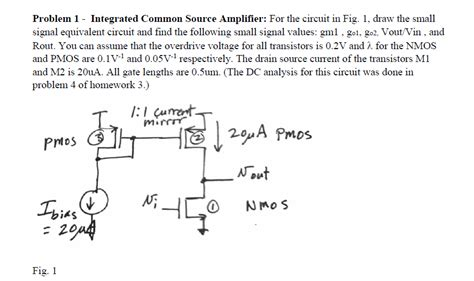 Solved Integrated Common Source Amplifier For The Circui