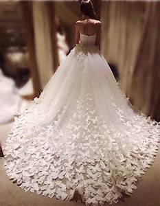 Speranza couture wedding gown dress skirt and train for Floral embroidered wedding dress
