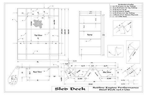 sled deck plans plans diy free download homemade wooden
