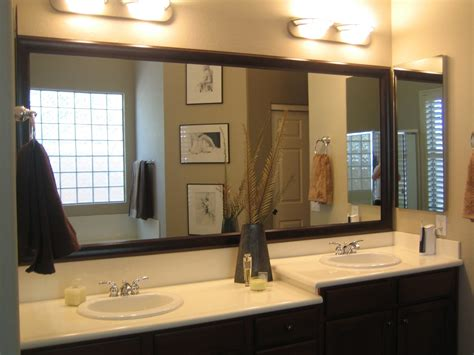 bathroom mirrors separate   big piece  glass