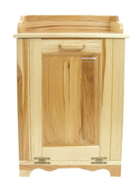 Jake's Amish Furniture   #BW20A Hickory Tilt Out Trash Bin