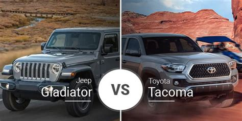2020 Jeep Gladiator Vs Toyota Tacoma by 2020 Jeep Gladiator Vs Tacoma Used Car Reviews