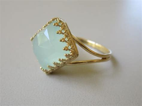 Aqua Mint Amazonite Ring Mint Stone Ring Gold Ring Vintage Antique Dining Chair Styles Large Vases Long Mirror Italy Markets Online Auctions Antiques Bathroom Sign White Eternity Rings