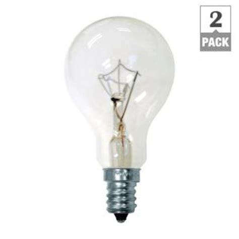 ge 40 watt incandescent a15 clear ceiling fan intermediate