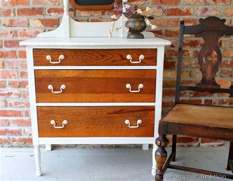 white paint update oak furniture