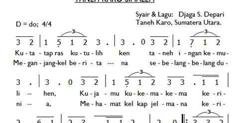 notasi angka lagu rohani musik gerejawi karo partitur lagu karo taneh karo simalem