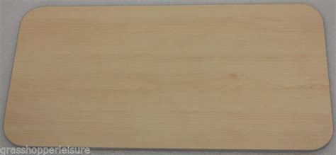 Lightweight plywood, hard laminated table tops for