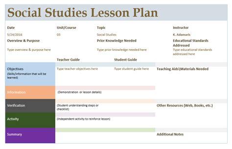 social studies lesson plan template microsoft word templates 334 | Social Studies Lesson Plan Template