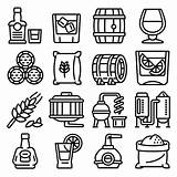 Outline Whisky Premium Icons sketch template