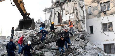 dead hundreds hurt  albania searches  earthquake